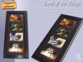 Lord Of The Rings - Cast Signed & Framed Authentic Movie Card Collector Set